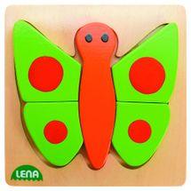 LENA - Drevené puzzle Motýľ 32067