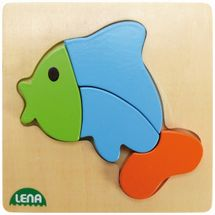 LENA - Drevené puzzle Ryba 32068