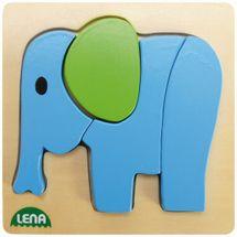 LENA - Drevené puzzle Slon 32061