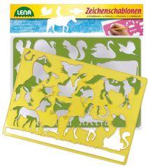 LENA - Kresliace šablóny (kone a mačky) 65767