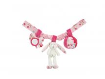 LITTLE DUTCH - Reťaz zajačikovia biela/ružová