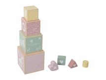 LITTLE DUTCH - Skladacia veža pink