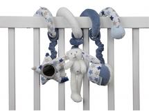 LITTLE DUTCH - Špirála zajačik biela/modrá