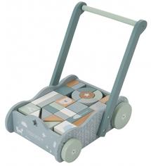 LITTLE DUTCH - Vozíček s kockami blue