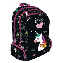 LIZZY CARD - Školský batoh Lollipop Unicorn čierny
