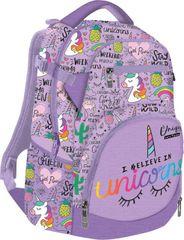 LIZZY CARD - Školský batoh Lollipop Unicorn fialový