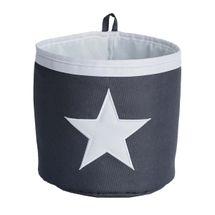 LOVE IT STORE IT - Malý úložny box, okrúhly - šedý, biela hviezda
