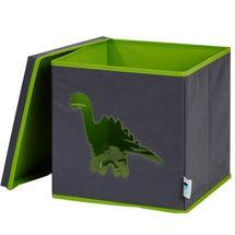 LOVE IT STORE IT - Úložný box na hračky s krytom a okienkom - dinosaurus