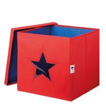 LOVE IT STORE IT - Úložný box na hračky s krytom a okienkom - hviezda