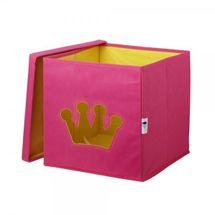 LOVE IT STORE IT - Úložný box na hračky s krytom a okienkom - koruna