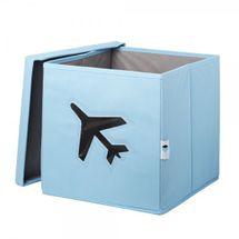 LOVE IT STORE IT - Úložný box na hračky s krytom a okienkom - lietadlo