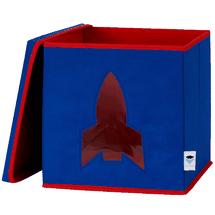 LOVE IT STORE IT - Úložný box na hračky s krytom a okienkom - raketa