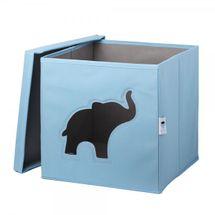 LOVE IT STORE IT - Úložný box na hračky s krytom a okienkom - slon