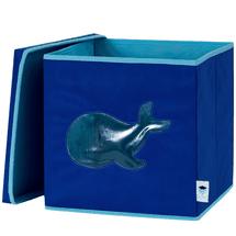 LOVE IT STORE IT - Úložný box na hračky s krytom a okienkom - veľryba