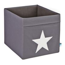 LOVE IT STORE IT - Veľký box na hračky - šedý, biela hviezda