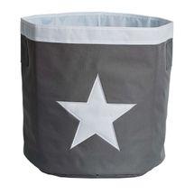 LOVE IT STORE IT - Veľký úložný box, okrúhly - šedý, biela hviezda