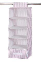 LOVE IT STORE IT - závesný úložný box so zásuvkou, zig-zag, ružová