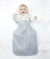 LOVE TO DREAM - Rýchlozavinovačka SwaddleMe Up 50/50 Winter, Multi Stripe 6 - 8,5 kg