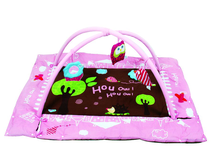 LUDI - Hracia deka s mantinelom a hrazdou Sova ružová