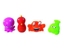 LUDI - Hračky do vody morské potvorky 4ks