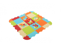 LUDI - Puzzle penové 120x120 cm Zvieratka