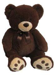MAC TOYS - Plyšový Medvedík 60 Cm, Tmavohnedý