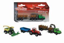 MAJORETTE - Farmárske Vozidlo Kovové Farm Set, 3 Druhy