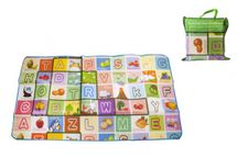 MAKRO - Detský koberec 100 x 180 x 0,5 cm - mix