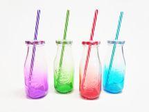 MAKRO - Fľaša so slamkou 300 ml - mix
