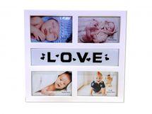 MAKRO - Fotorám LOVE na 4 fotky
