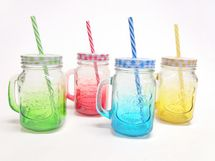 MAKRO - Hrnček so slamkou 450 ml - mix