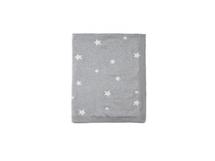 MAMAS & PAPAS - Pletená deka hviezdy šedá