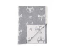 MAMAS & PAPAS - Pletená deka Líšky šedá