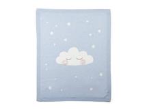 MAMAS & PAPAS - Pletená deka mráčik modrá