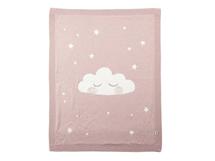 MAMAS & PAPAS - Pletená deka mráčik ružová