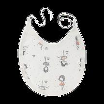 MAMATTI - Podbradník bavlna Baletka, biely
