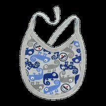 MAMATTI - Podbradník bavlna Chameleon, modrý/šedá