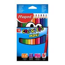 MAPED - Pastelky trojhranné - hrubé COLOR`PEPS MAXI, 12 ks