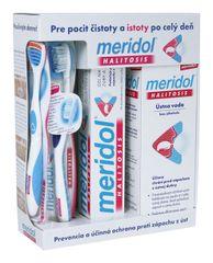 MERIDOL - Halitosis Systém komplexná ochrana proti zápachu z úst (zubná pasta 75ml, ústna voda 400ml, zubná kefka)