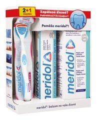 MERIDOL - Systém na zapálené,krvácajúce ďasná (zubná pasta 75ml, ústna voda 400ml, zubná kefka)