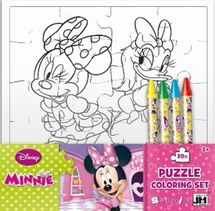 Minnie - Omalovánka puzzle