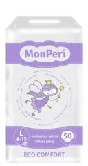 MONPERI - jednorázové plienky 8-13 kg, plienky ECO comfort L, 50 kusov
