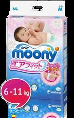 """MOONY - Detské plienky Air Fit """"M"""" (6-11kg) 62 ks"""
