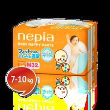 """NEPIA - Detské nohavičkové plienky """"M"""" (7-10kg) 32 ks"""