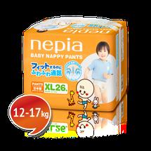 """NEPIA - Detské nohavičkové plienky """"XL"""" (12-17kg) 26 ks"""