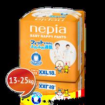 """NEPIA - Detské nohavičkové plienky """"XXL"""" (13-25kg) 18 ks"""
