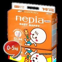 """NEPIA - Detské plienky s páskou Tape """"NB"""" (0-5kg) 84 ks"""