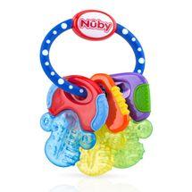 NUBY - Hryzátko s chladivým gélom kľúče 3m+