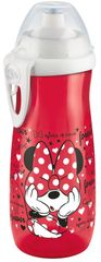 NUK - FC Fľaša Sports Cup, Disney - Mickey 450 ml, SI push-pull fontánka s pitnou vodou, červená