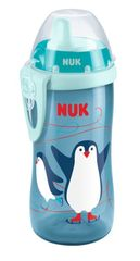NUK - FC Kiddy Cup detská flaša 300ml, modrá